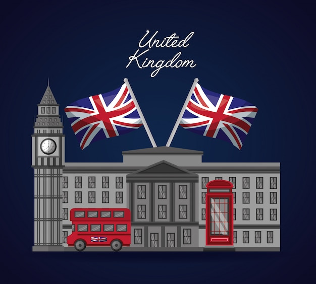 United kingdom places flag