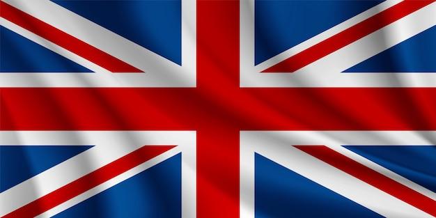 United kingdom realistic wavy flag vector