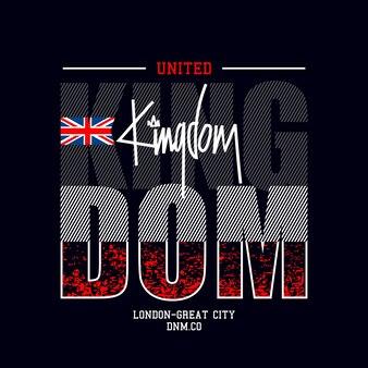 Великобритания текст футболки дизайн