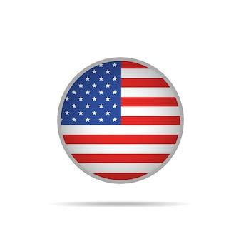 Флаг соединенных штатов америки на кнопке