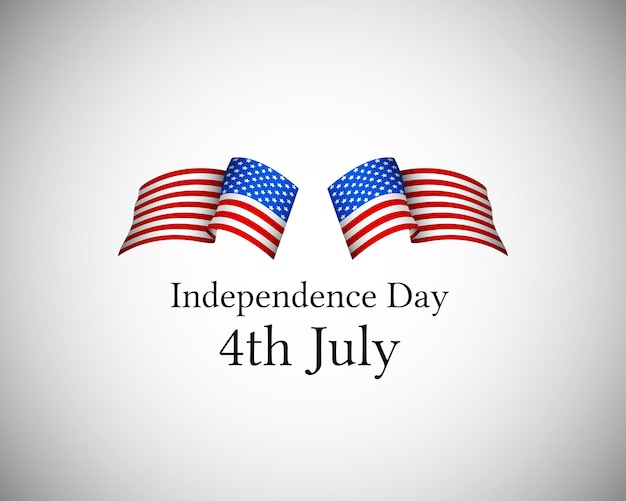United states of america 4th july independence day cover vector illustration