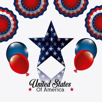 United states of america design.