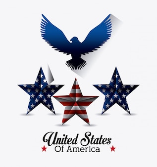 United states of america design.