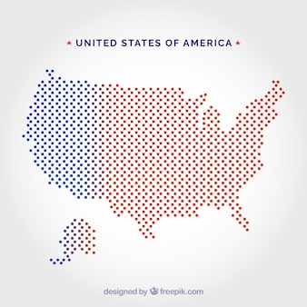United states of america dot map