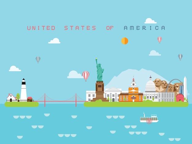 United states of america famous landmarks