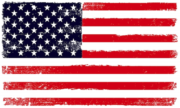 The united states of america flag in grunge style