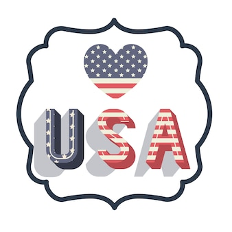 United states of america frame vector illustration design