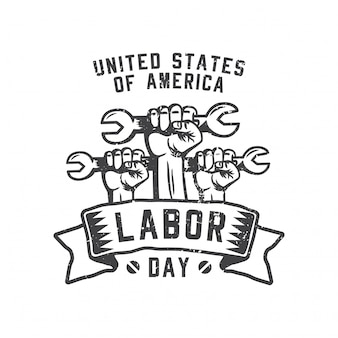 United states of america labor day fist hold a metal key