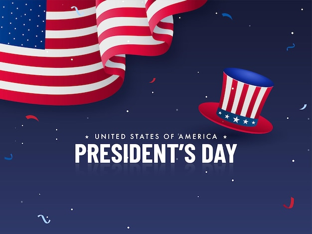 United states of america, president's day concept