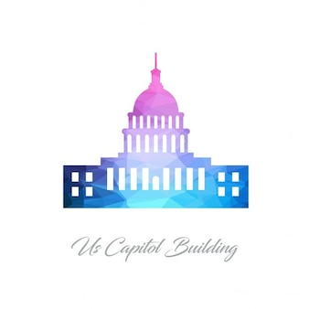 United states capitol, polygonal