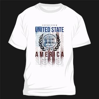 미국 문화 그래픽 타이포그래피 벡터 t 셔츠 디자인 일러스트 캐주얼 스타일