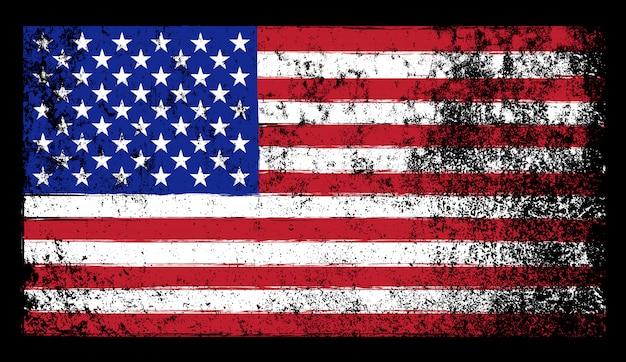 グランジスタイルの米国旗