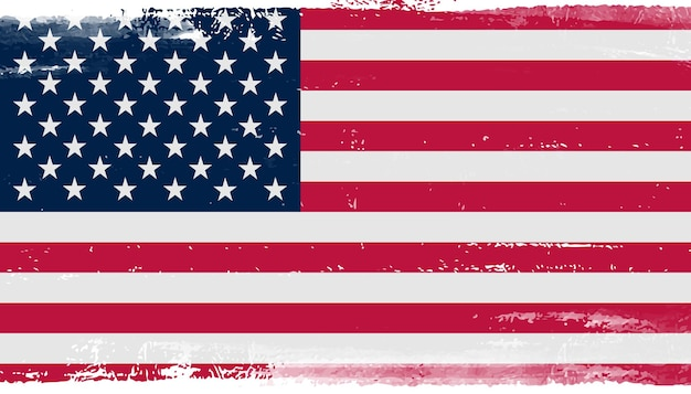 Флаг сша в стиле гранж