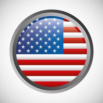 Флаг сша круглый герб