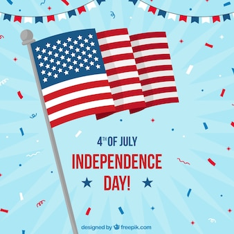United states independence day celebration background