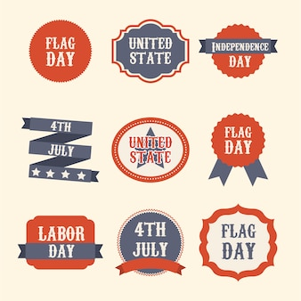 United states labels over beige background united states