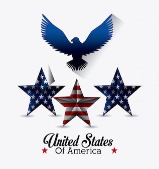 Дизайн соединенных штатов америки.