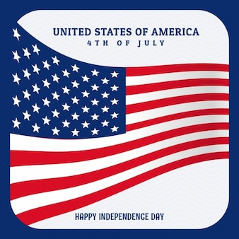 Соединенные штаты америки фоне флага