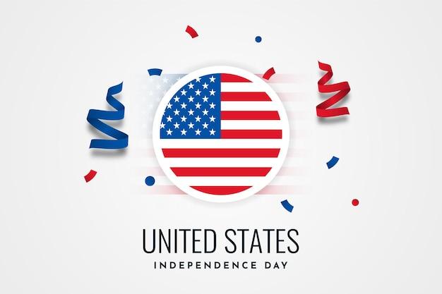 Дизайн шаблона карты празднования дня независимости соединенных штатов америки