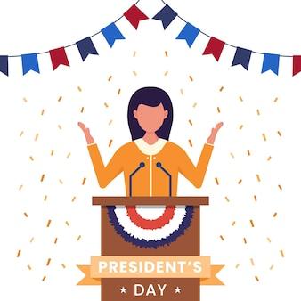 Соединенные штаты америки, концепция дня президента.
