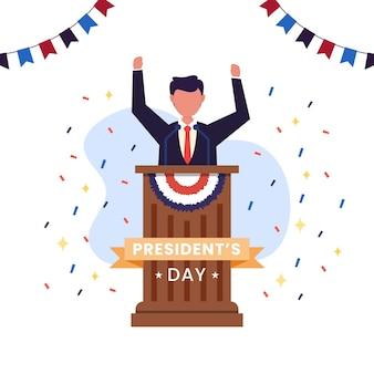 アメリカ合衆国、大統領の日のコンセプト。