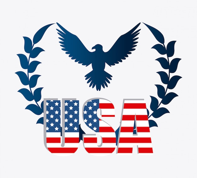 United states patriotism design.