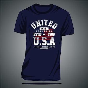 미국 스포츠 그래픽 타이포그래피 티셔츠 디자인 벡터