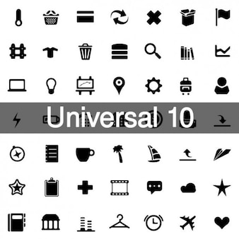 Universal icons pack 10