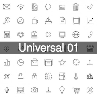 Universal icons pack 1