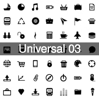 Universal icons pack 3