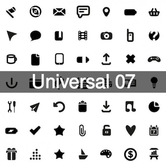 Universal icons pack 7