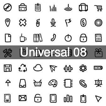 Universal icons pack 8