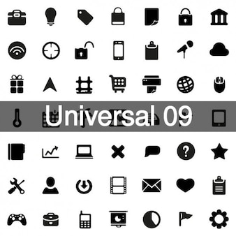 Universal icons pack 9