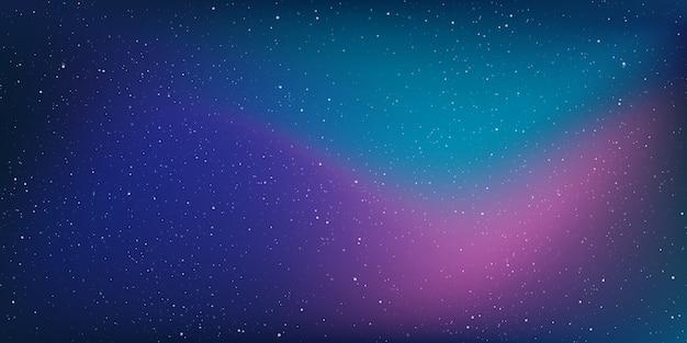 宇宙の背景とグラデーションの空の天の川銀河。