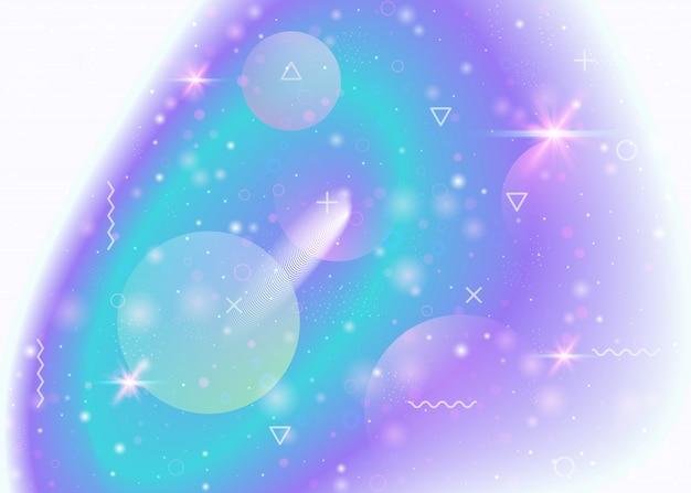 은하와 우주 모양과 별 먼지가있는 우주 배경 프리미엄 벡터
