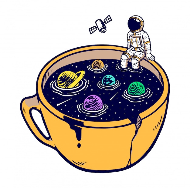 The universe in my cup illustration
