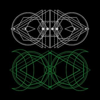Universe sacred geometry for tattoo design