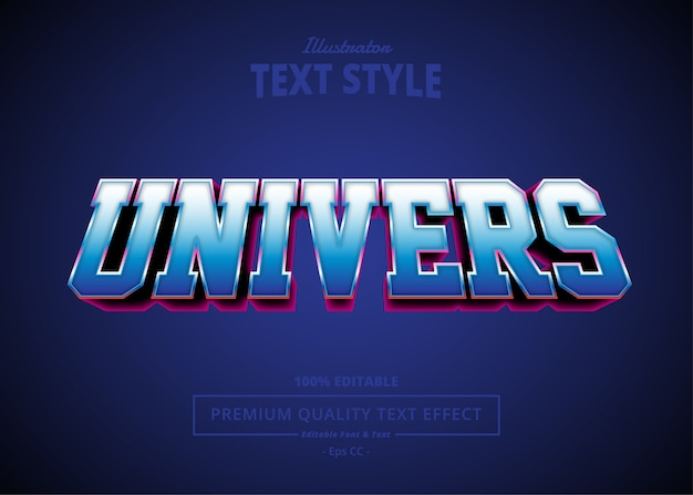 Universe  text effect