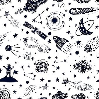 Universe texture kids nursery design