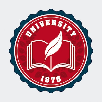 University design over white background vector illustration