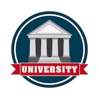 University design over white background vector illustration