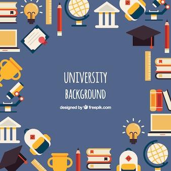 University elements background in flat style