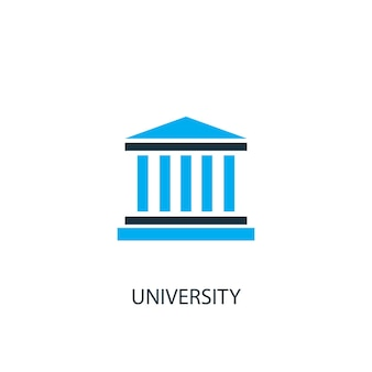University icon. logo element illustration. university symbol design from 2 colored collection. simple university concept. can be used in web and mobile.