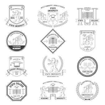University labels set