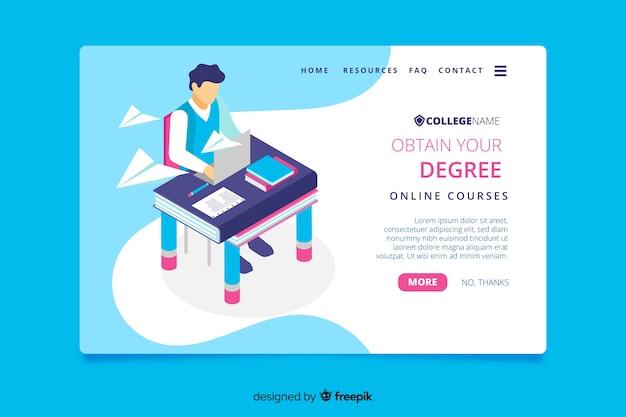 University landing page