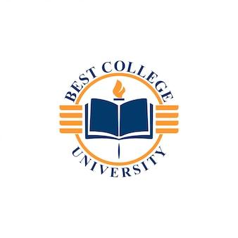 Концепция логотипа университета. шаблон логотипа университета