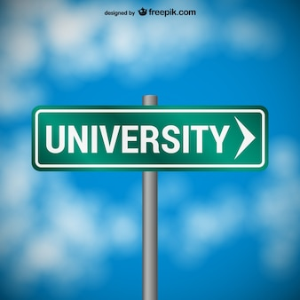 대학 도로 표지판