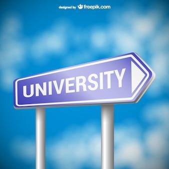 University roadsign