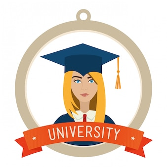 University students graduation Free Vector