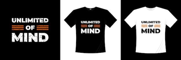 無制限のマインドタイポグラフィtシャツデザイン